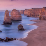Sunset in purple pink at 12 Apostles