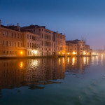 Venice early morning in the canale grande