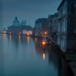 Venice sunrise in blue mood