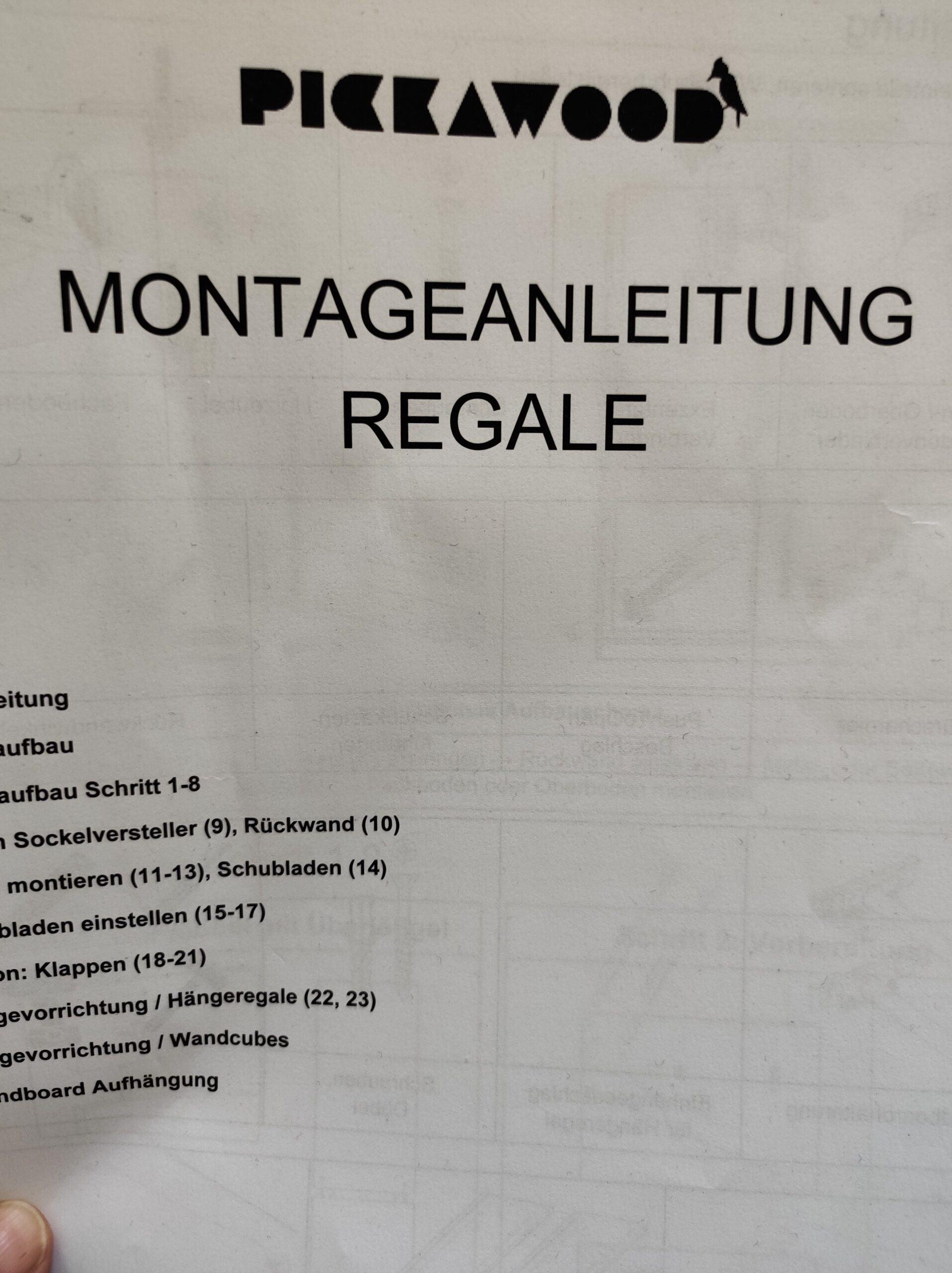 Montageanleitung Pickawood